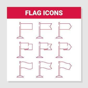 Set di icone di bandiera