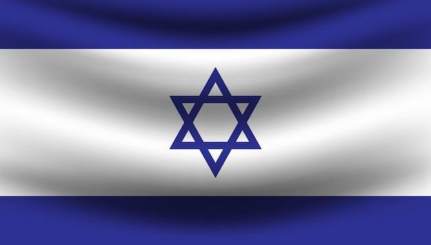 Modello di bandiera di israele sullo sfondo.
