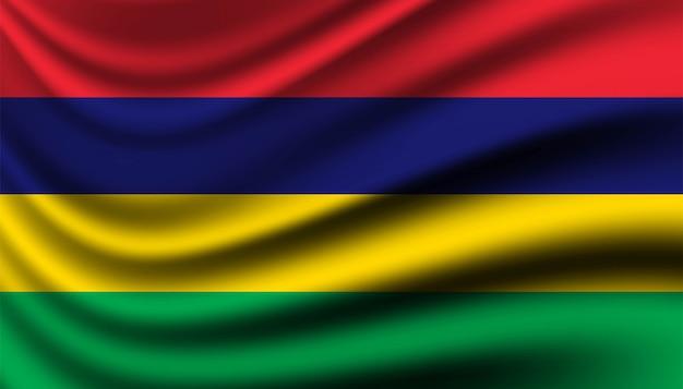 Bandiera del modello di sfondo di mauritius.