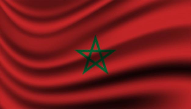 Bandiera del modello di sfondo del marocco.