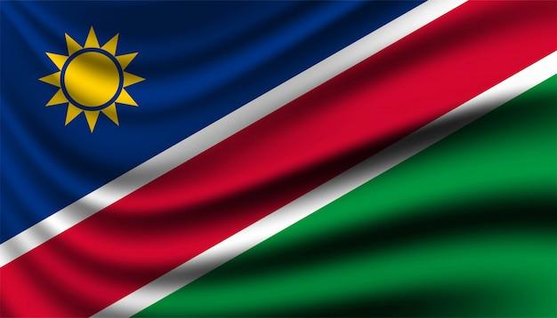 Bandiera del modello di sfondo namibia.