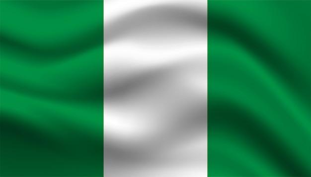 Bandiera del modello di sfondo della nigeria.