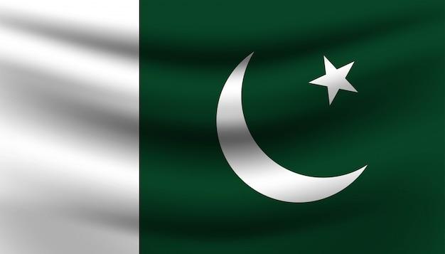 Bandiera del modello di sfondo del pakistan.