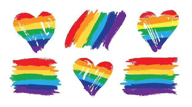 Segnala il concetto lgbt di pride rainbow Vettore Premium