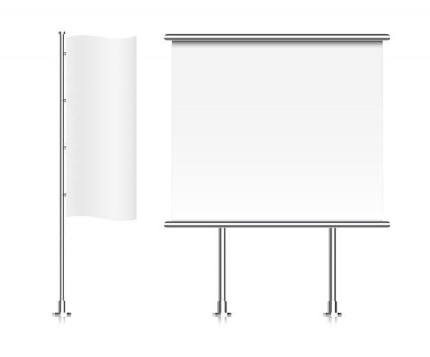 Bandiera . visualizzazione banner roll-up