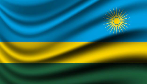 Bandiera del modello di sfondo del ruanda.