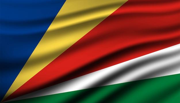 Bandiera del modello di sfondo delle seychelles.