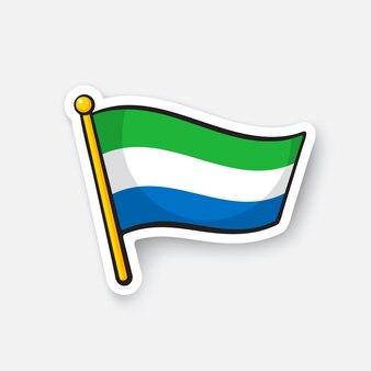 Bandiera dei paesi della sierra leone in africa simbolo di posizione per i viaggiatori illustrazione vettoriale