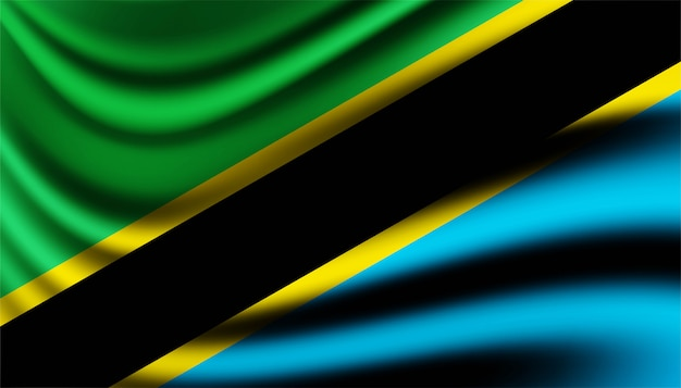 Bandiera del modello di sfondo della tanzania.