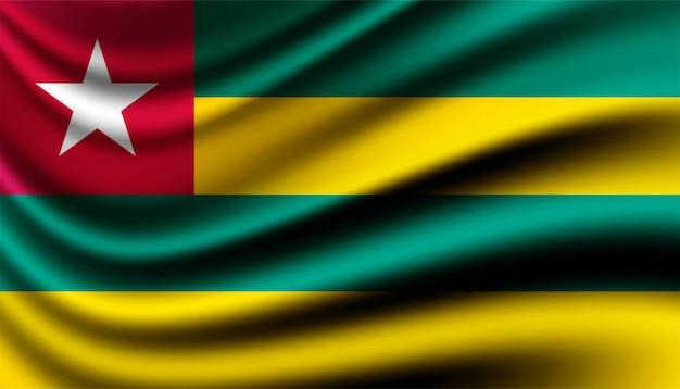 Bandiera del modello di sfondo del togo.