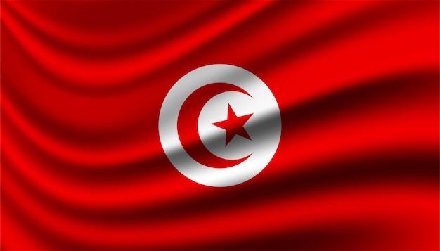Bandiera del modello di sfondo della tunisia.