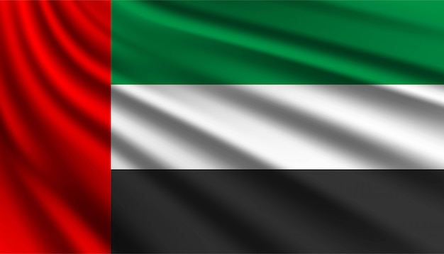 Bandiera del modello di sfondo degli emirati arabi uniti.