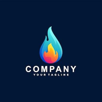 Fiamma colore gradiente logo design