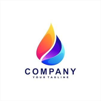 Design del logo sfumato di colore della fiamma