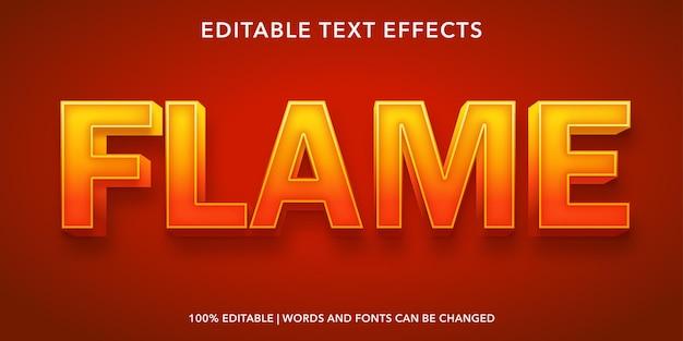 Effetto di testo modificabile fiamma Vettore Premium