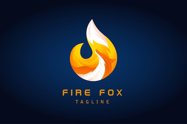 Logo sfumato a forma di volpe di fiamma