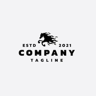 Disegno del logo del cavallo di fiamma