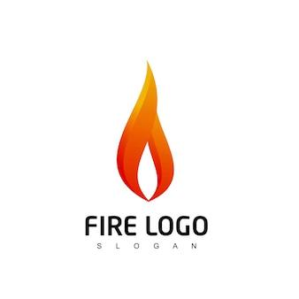 Modello di progettazione del logo della fiamma