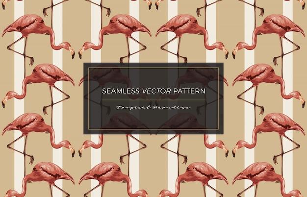 Flamingo seamless pattern.