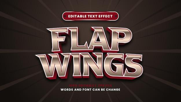 Effetto di testo modificabile con ali di ali in moderno stile 3d