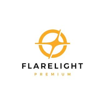 Illustrazione dell'icona di vettore del logo di blitz luminoso chiaro del chiarore