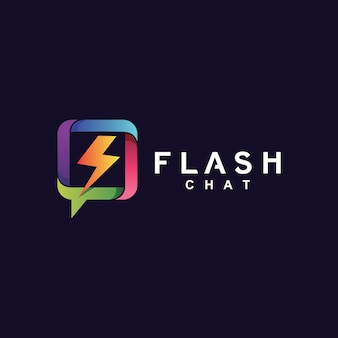 Progettazione del logo di chat flash