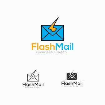 Modello logo flash mail