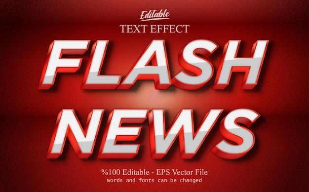 Flash news modificabile effetto testo vecto