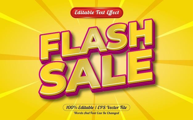 Stile del modello di effetto di testo modificabile 3d di vendita flash