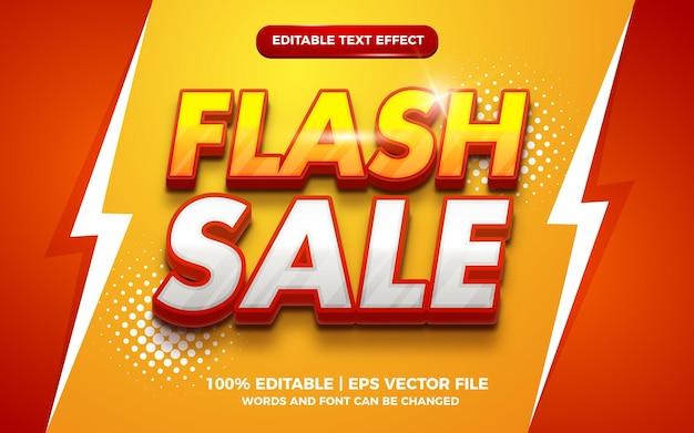 Effetto di testo modificabile 3d di vendita flash