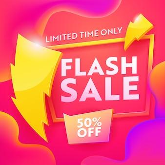 Banner moderno di pubblicità di vendita flash