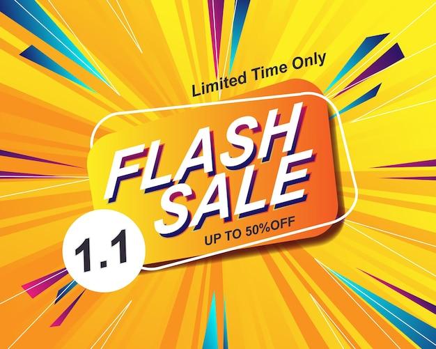 Modello di sfondo banner vendita flash per evento di vendita 1.1