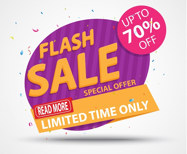 Banner di vendita flash e design della migliore offerta