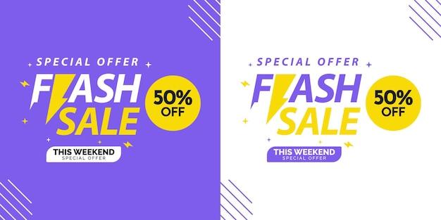 Concetto di design banner vendita flash