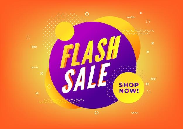 Modello di progettazione banner vendita flash.