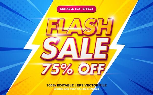 Stile modello effetto testo modificabile banner vendita flash