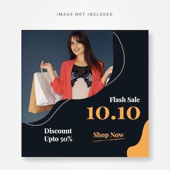 Modello di progettazione instagram banner vendita flash