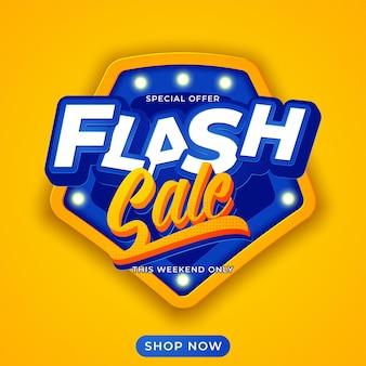 Sfondo del modello di banner di vendita flash