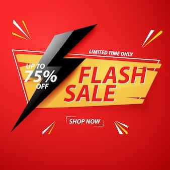 Modello di banner di vendita flash design.