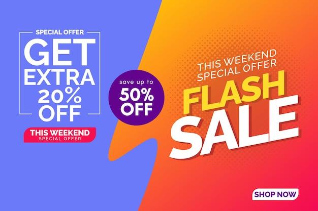 Modello banner vendita flash sale