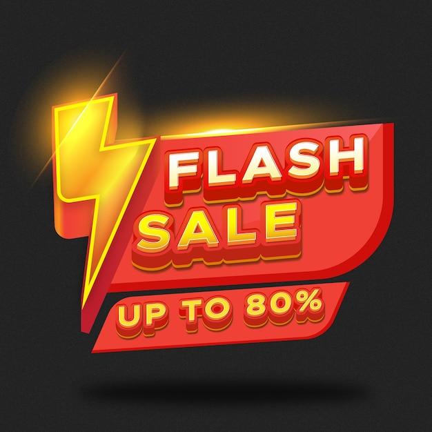 Promozione del modello di banner sconto vendita flash