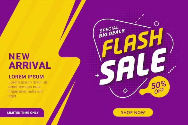 Promozione flash banner sconto vendita modello Vettore Premium