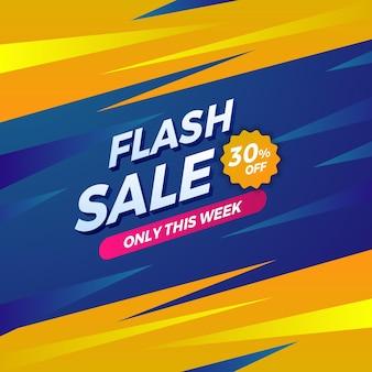 Vendita flash sconto promozione pubblicità speciale banner post sui social media