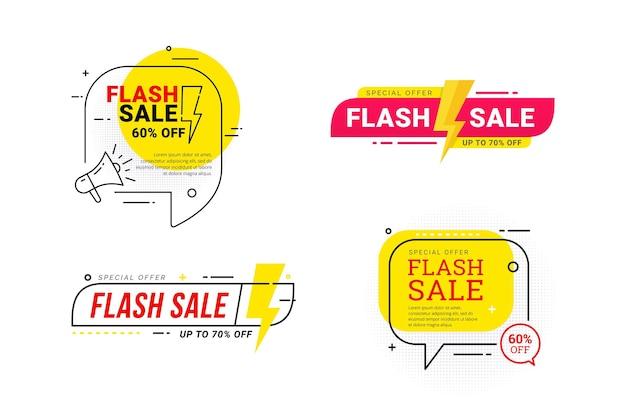 Offerta speciale di sconto di vendita flash
