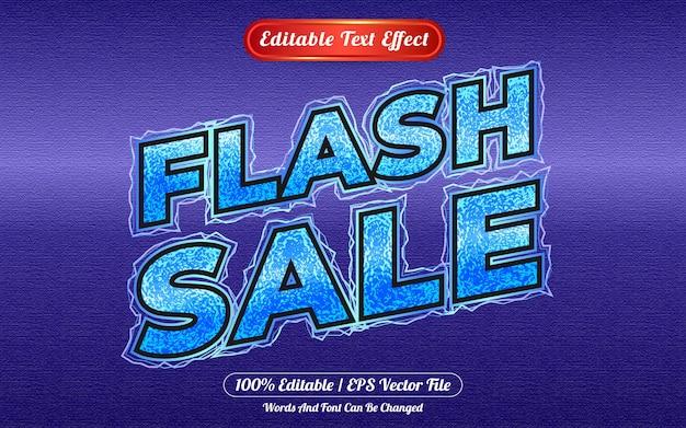 Vendita flash effetto testo modificabile a tema freddo