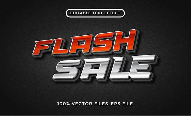 Vettori premium effetto testo modificabile vendita flash