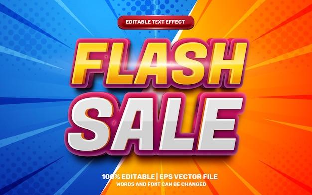 Effetto di testo modificabile 3d moderno di vendita flash