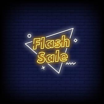 Vendita flash insegne al neon in stile testo