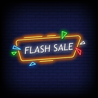 Testo di stile di insegne al neon di vendita flash