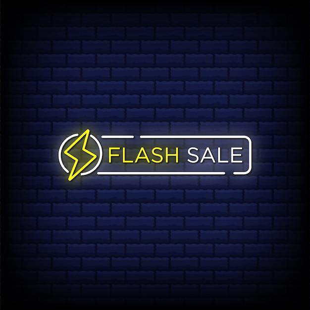 Testo in stile insegne al neon di vendita flash